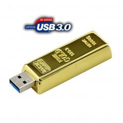 USB флашка златно кюлче